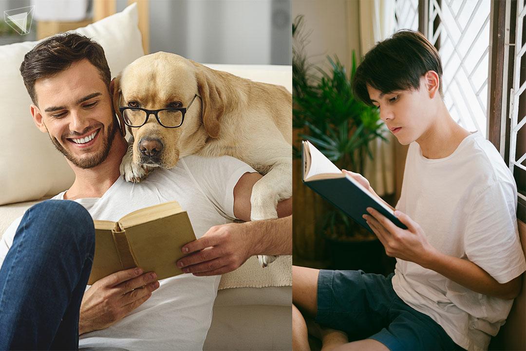 ผู้ชายอ่านหนังสือ อบอุ่น มีเสน่ห์