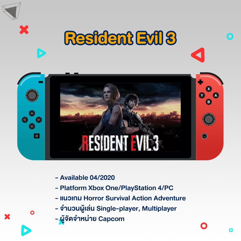 เกม Nintendo Switch Resident Evil 3