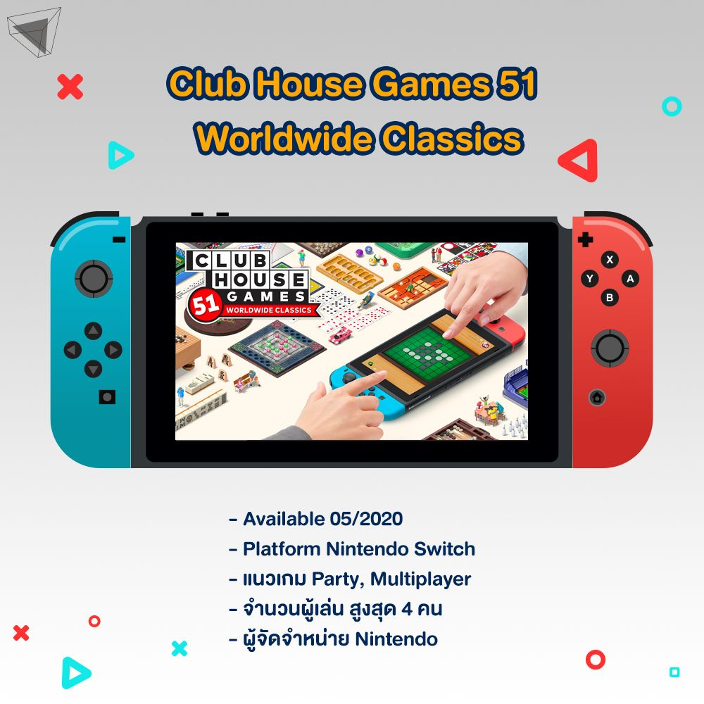 เกม Nintendo Switch Club House Games 51 Worldwide Classics