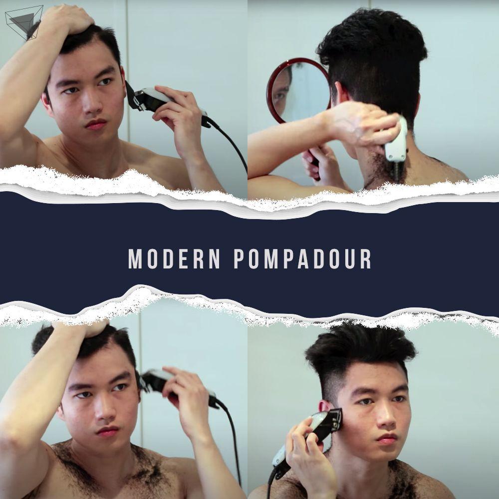 Modern pompadour
