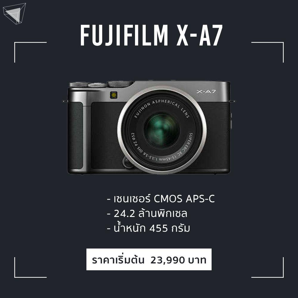 Fujifilm X-A7 mirrorless มือใหม่