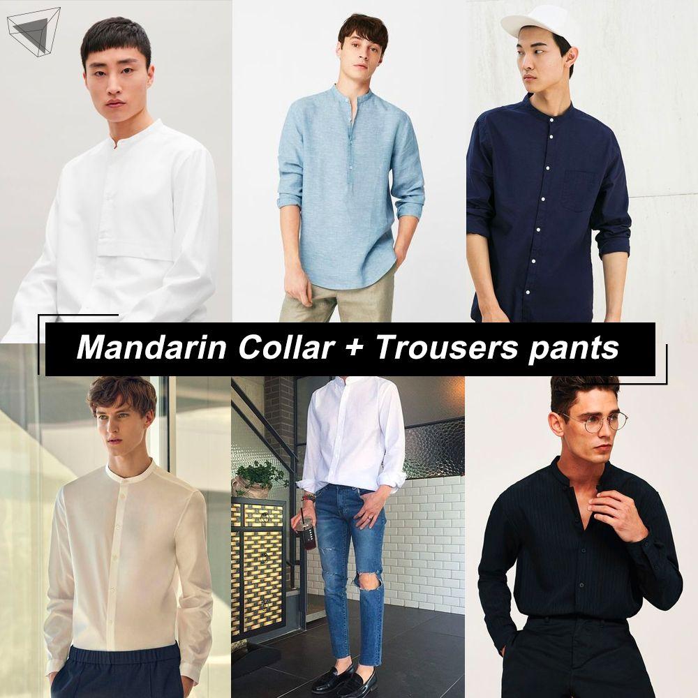 เสื้อคอจีนกับกางเกงขายาว (Mandarin Collar + Trousers pants)