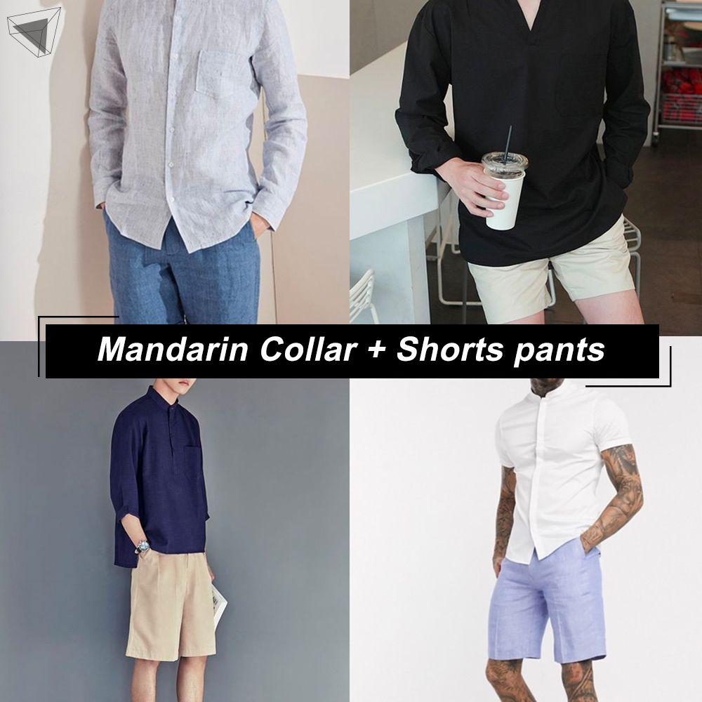 เสื้อคอจีนกับกางเกงขาสั้น (Mandarin Collar + Shorts pants)