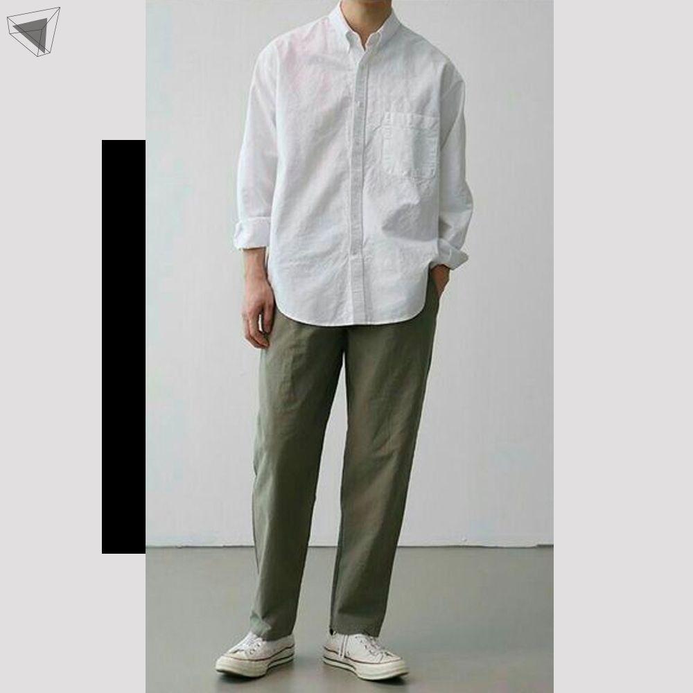 กางเกงชิโนกับเสื้อเชิ้ต