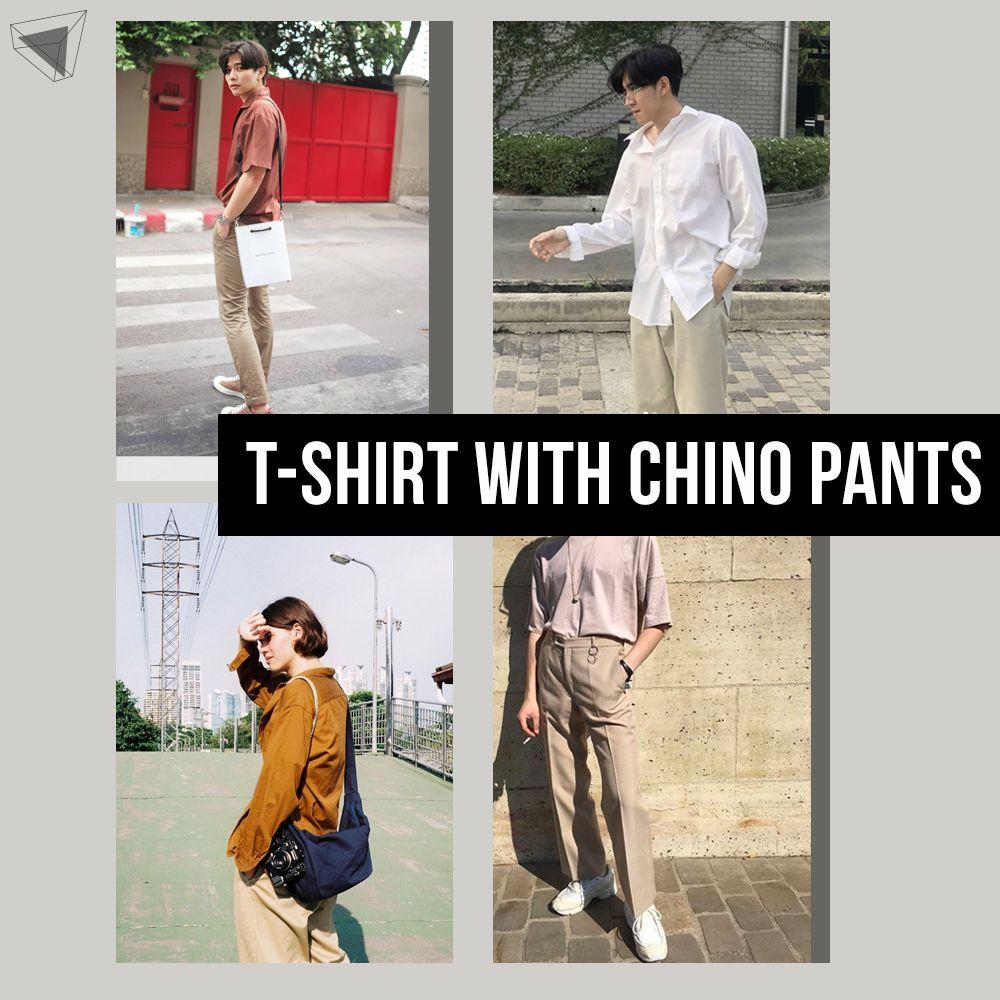 T-shirt with Chino Pants แมตซ์ชุดแต่งตัวผู้ชาย