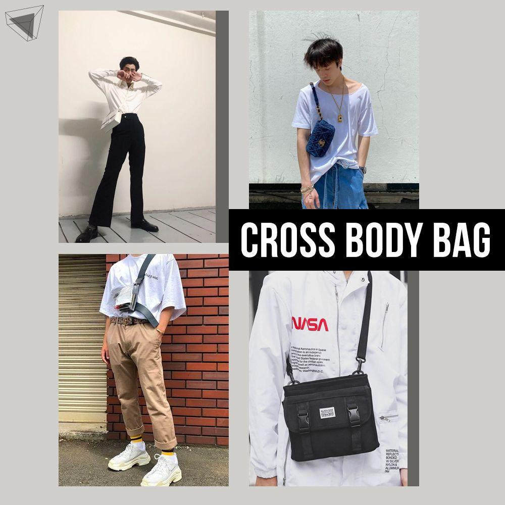 แต่งตัวผู้ชายใช้กระเป๋าสะพายข้าง Cross Body Bag