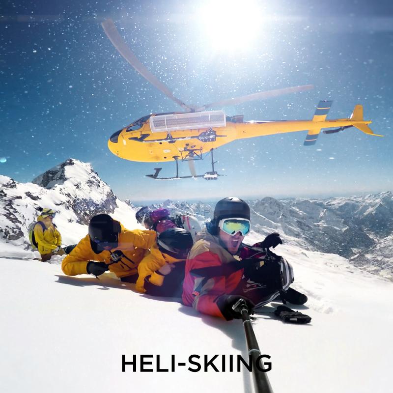 Heli-skiing Extreme Sport