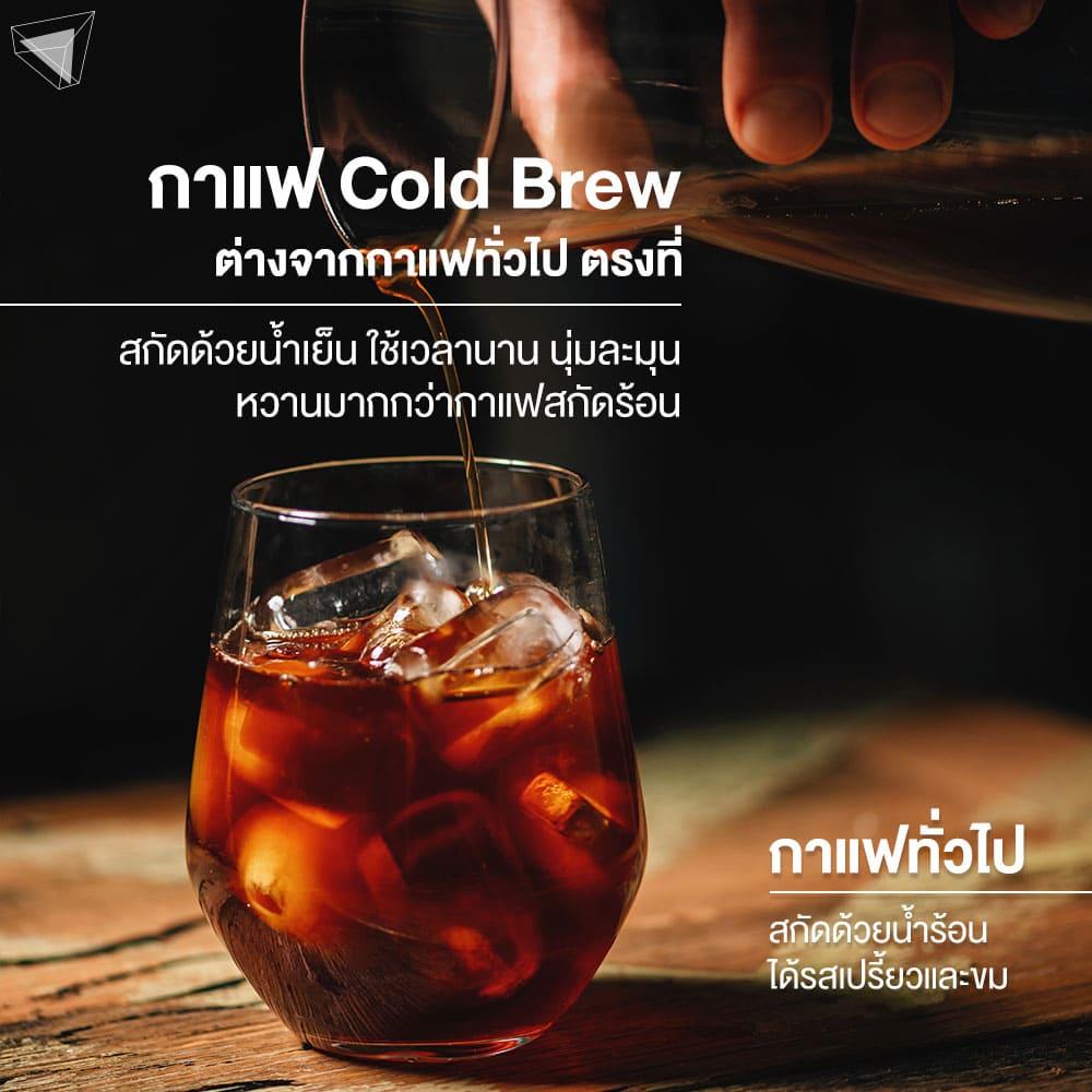 กาแฟ Cold Brew ต่างจากกาแฟทั่วไปยังไง