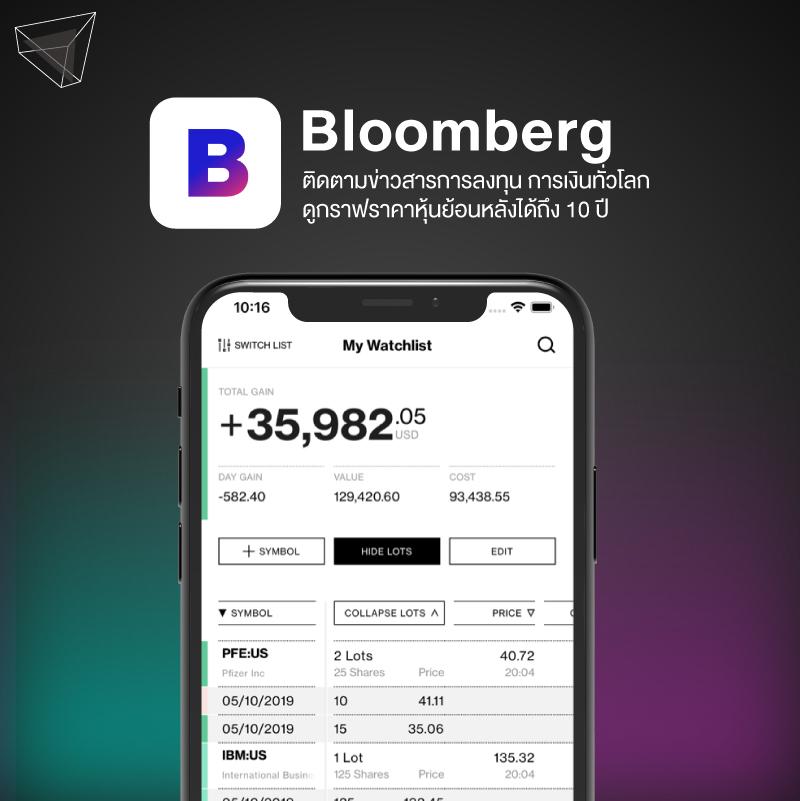 แอปลงทุน Bloomberg