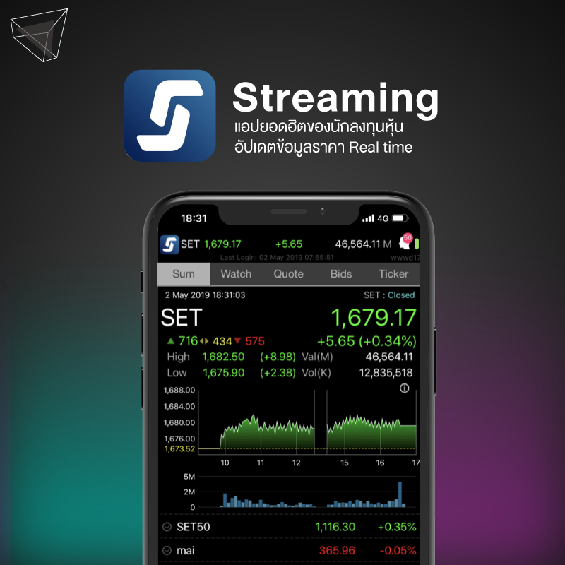 แอปลงทุน Streaming