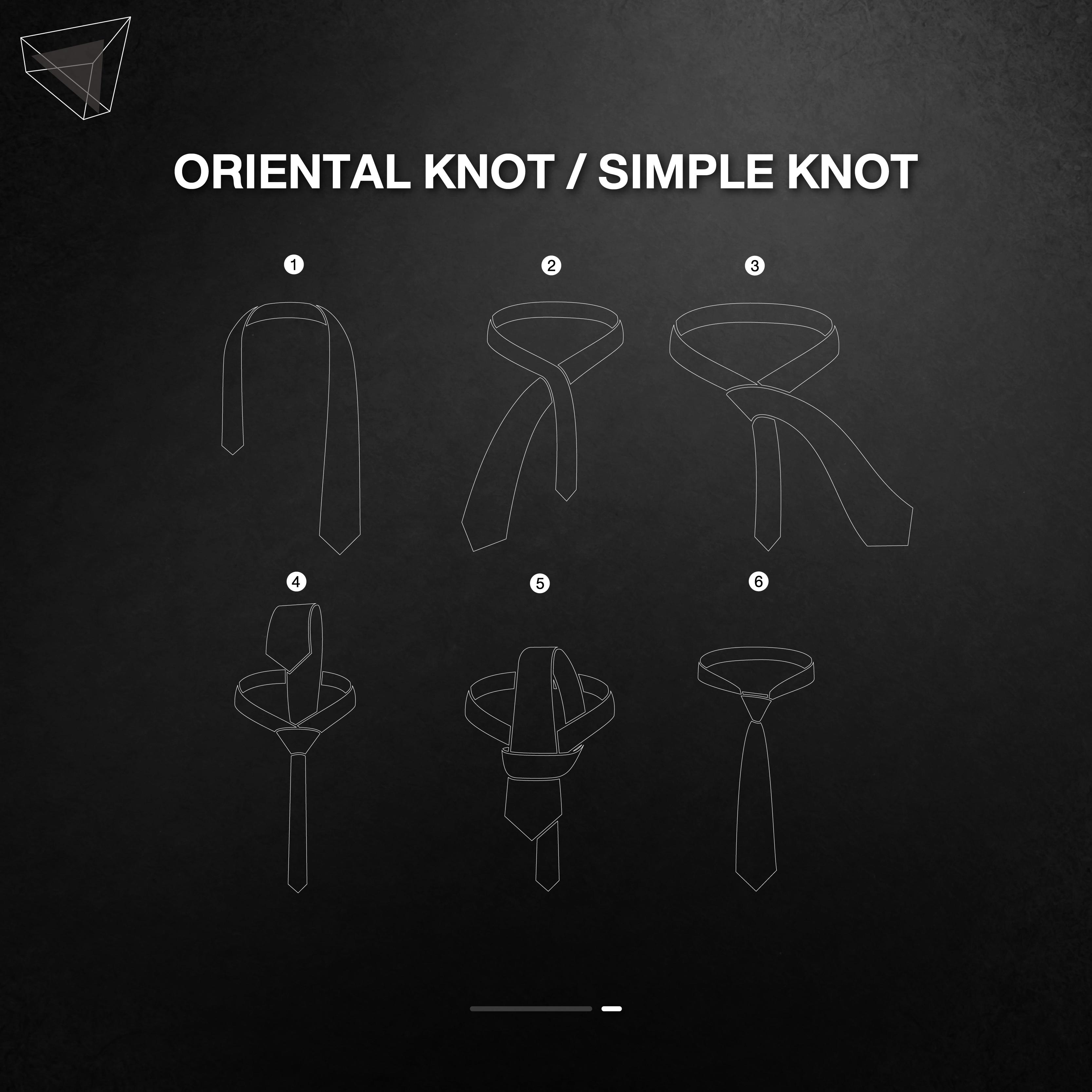 วิธีผูกเนคไทแบบ Oriental Knot / Simple Knot