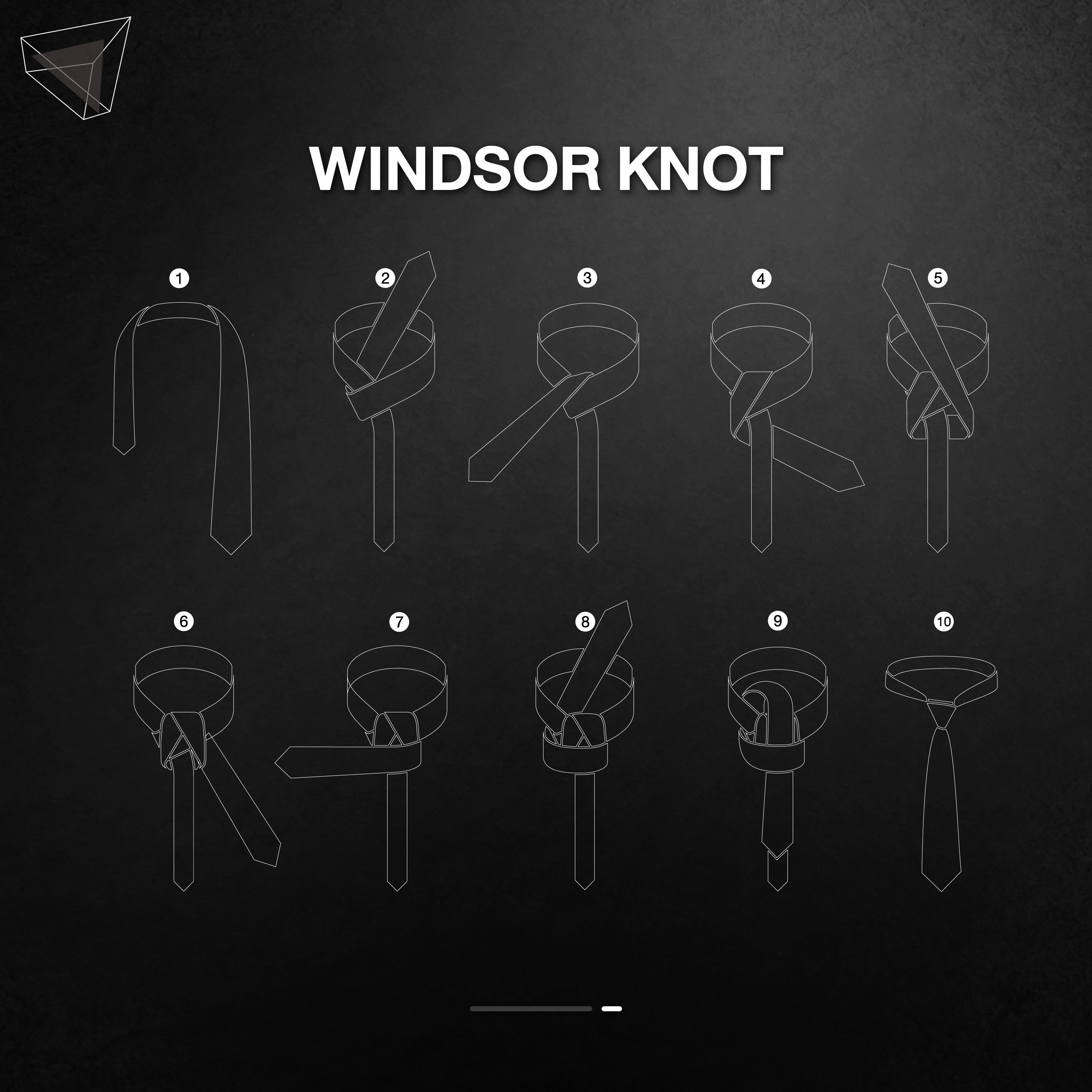 วิธีผูกเนคไทแบบ Windsor Knot