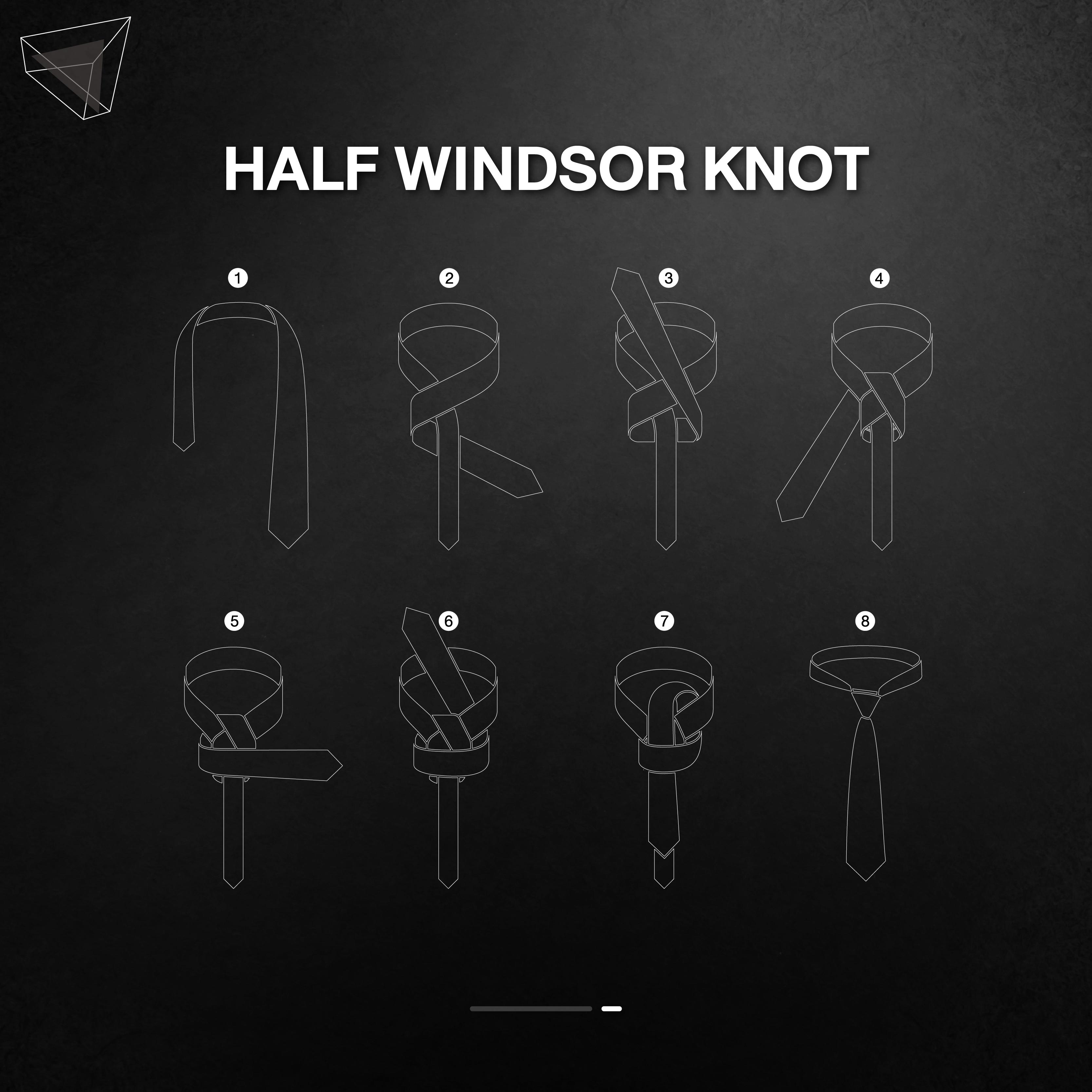 วิธีผูกเนคไทแบบ Half Windsor Knot