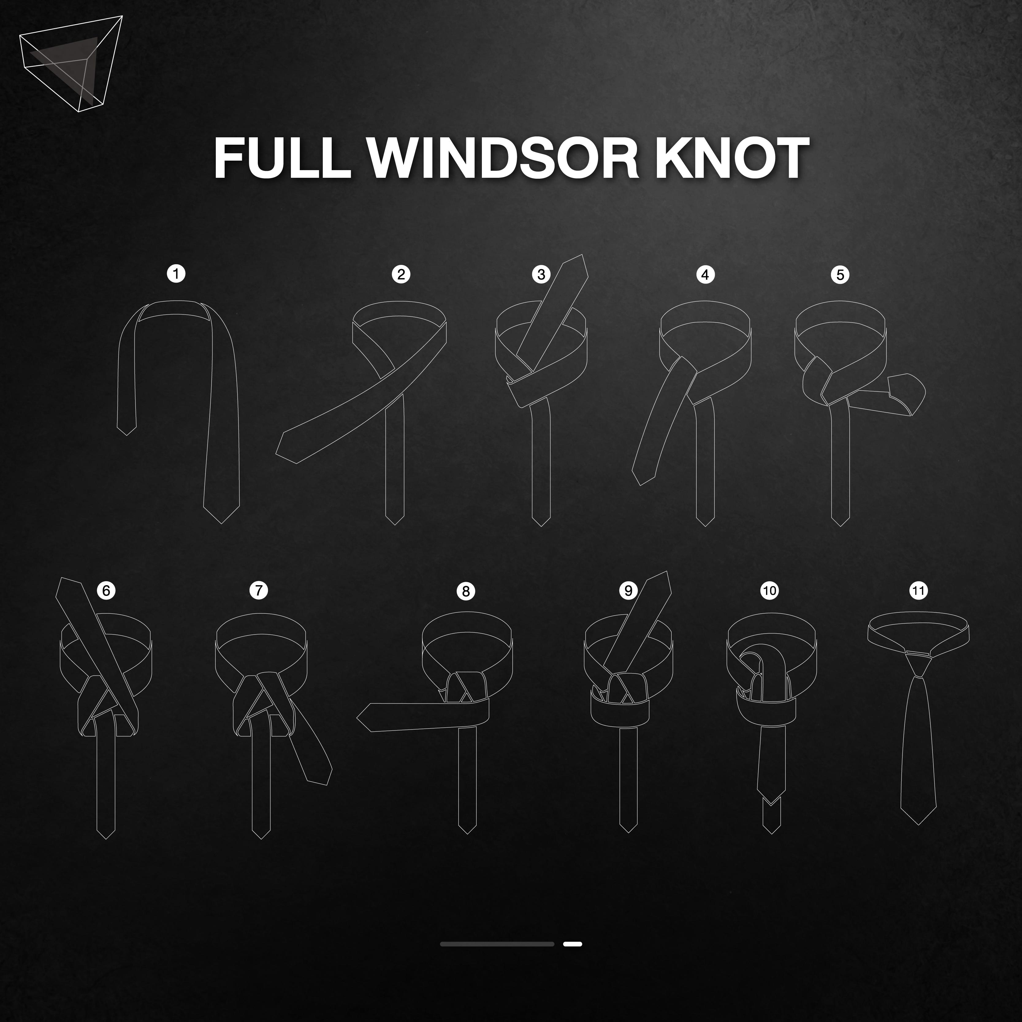 วิธีผูกเนคไทแบบ Full Windsor Knot