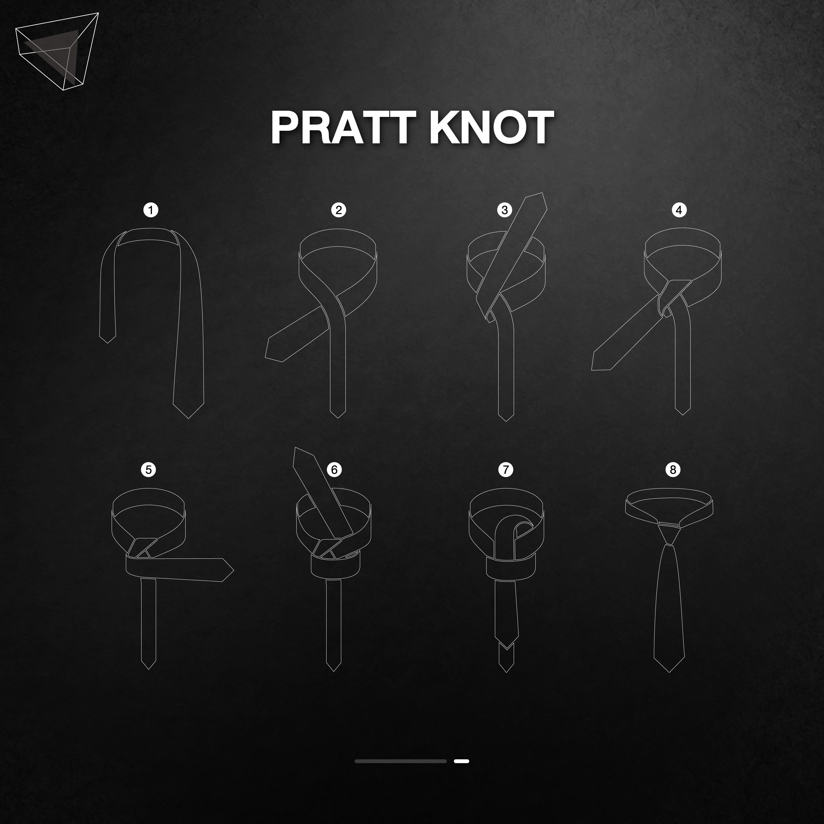 วิธีผูกเนคไทแบบ Pratt Knot