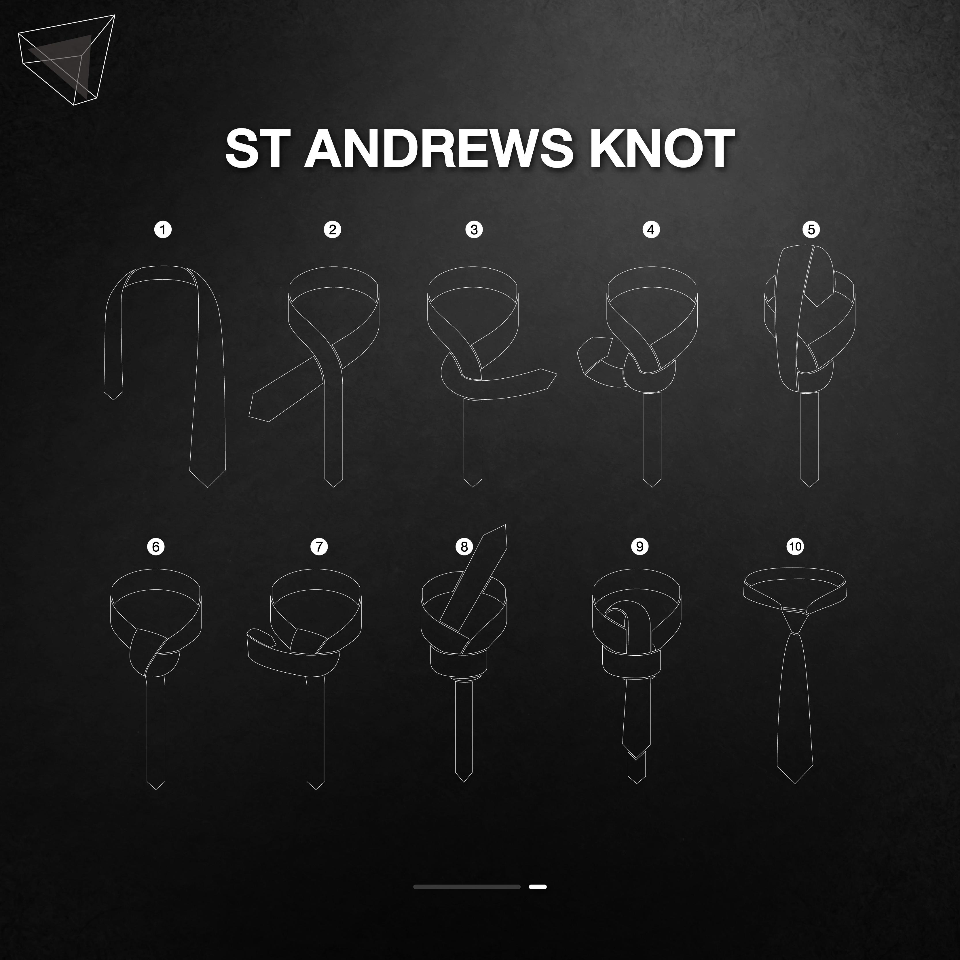 วิธีผูกเนคไทแบบ St Andrews Knot