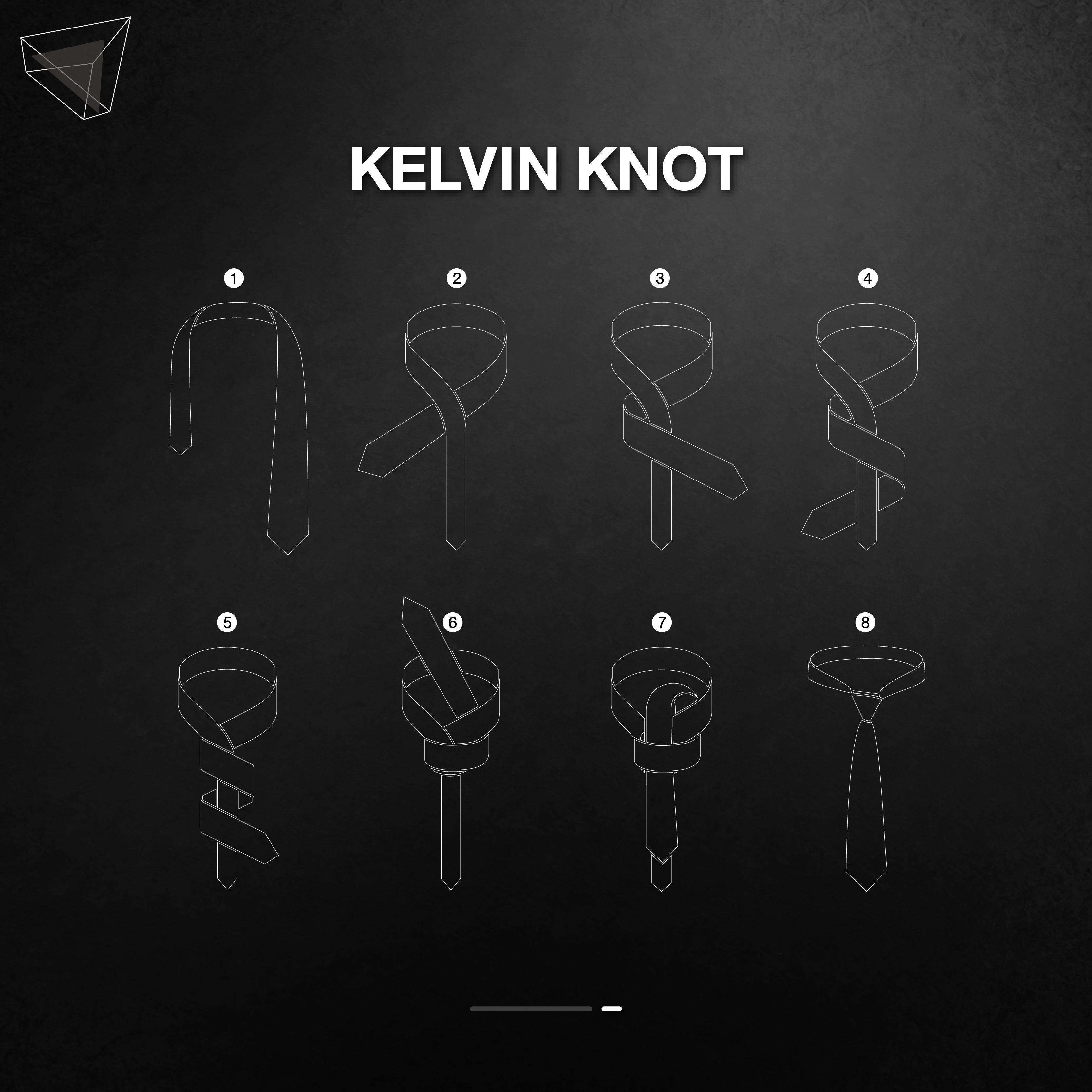วิธีผูกเนคไทแบบ Kelvin Knot