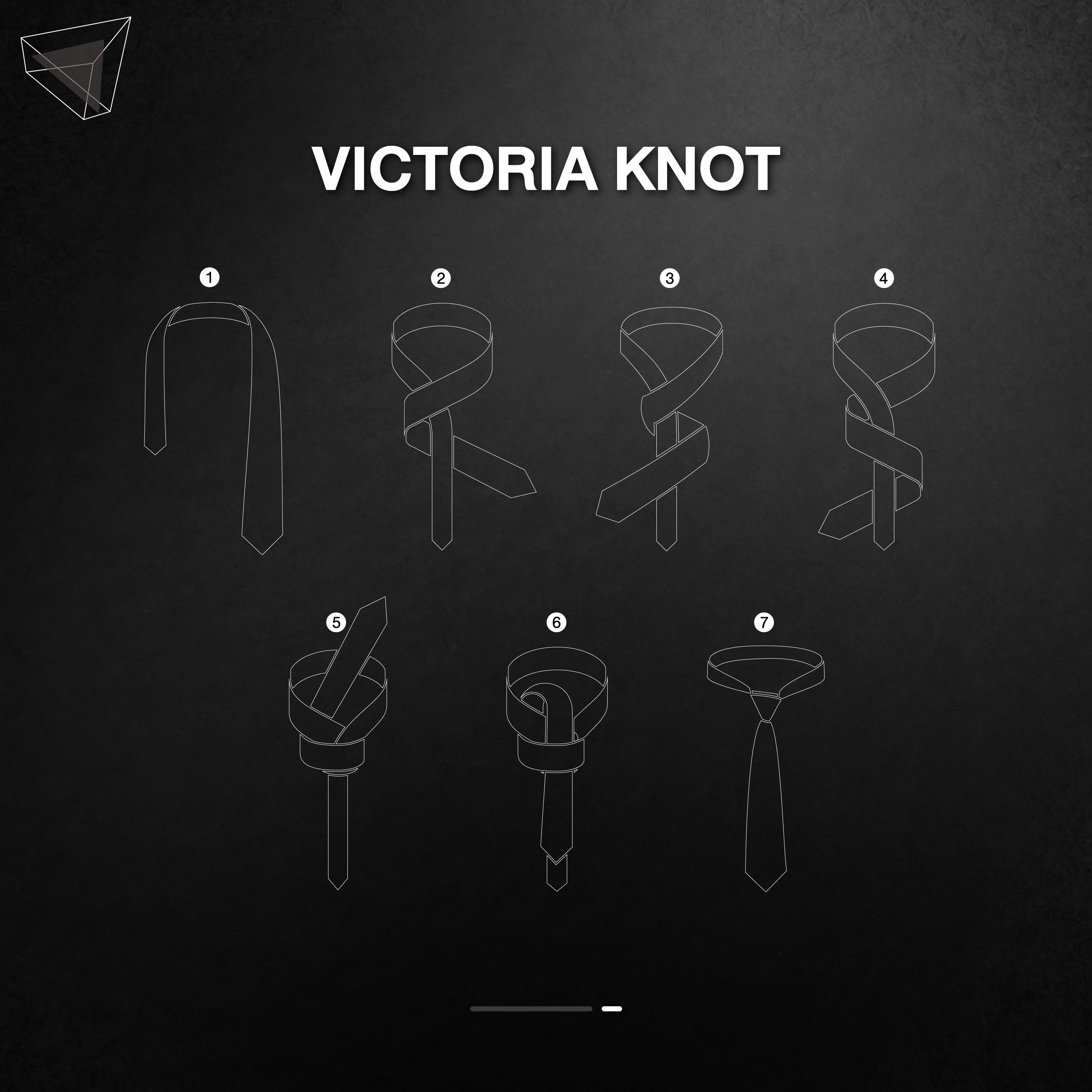 วิธีผูกเนคไทแบบ Victoria Knot