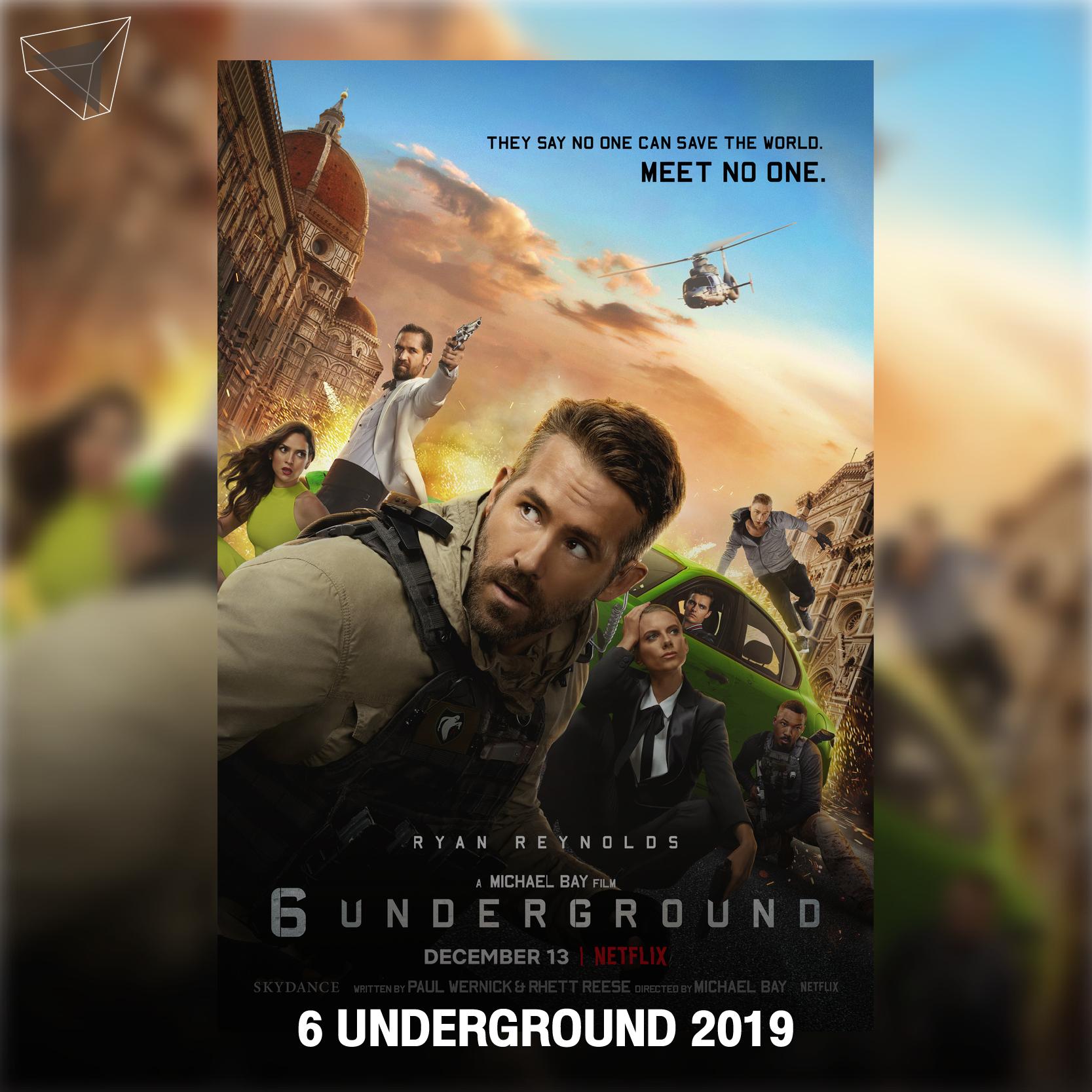"""หนังสายลับ """"6 Underground"""" (2019) แอ็กชันสุดมันส์ ระเบิดภูเขาเผากระท่อม"""