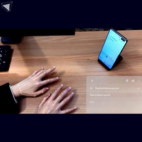 innovation 2020 Selfie Type - คีย์บอร์ดล่องหน by Samsung